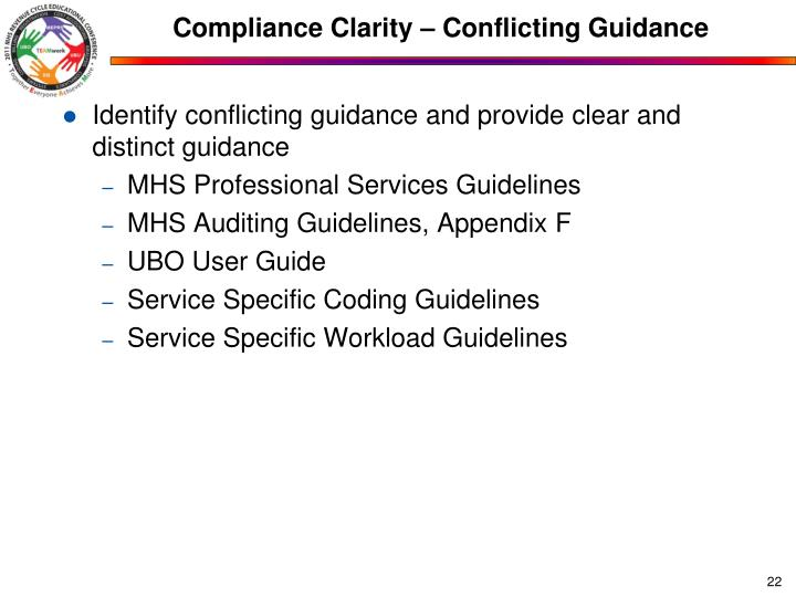 Compliance Clarity – Conflicting Guidance