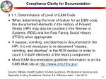 compliance clarity for documentation1