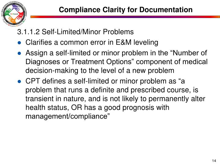 Compliance Clarity for Documentation