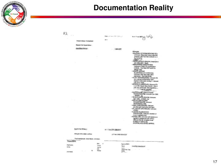 Documentation Reality