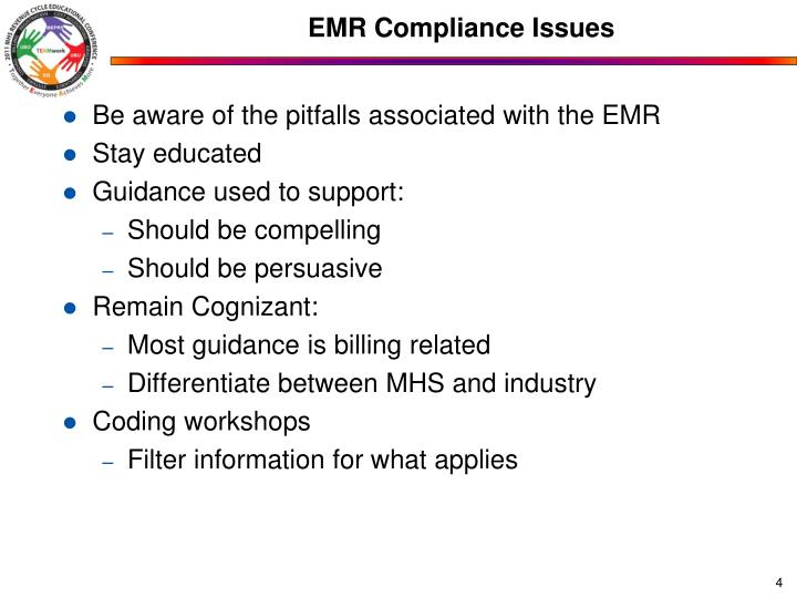 EMR Compliance Issues