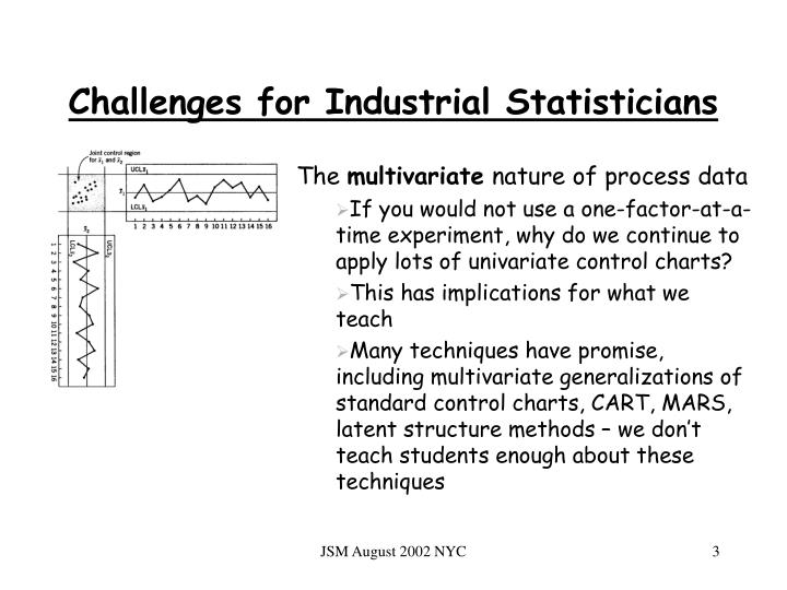 Challenges for Industrial Statisticians