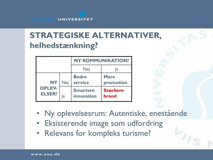 STRATEGISKE ALTERNATIVER,