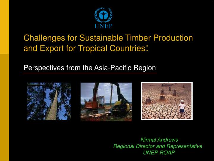 Challenges for Sustainable Timber Production and Export for Tropical Countries