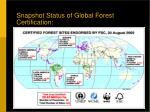 snapshot status of global forest certification