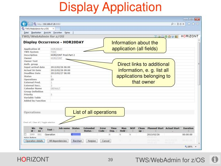 Display Application