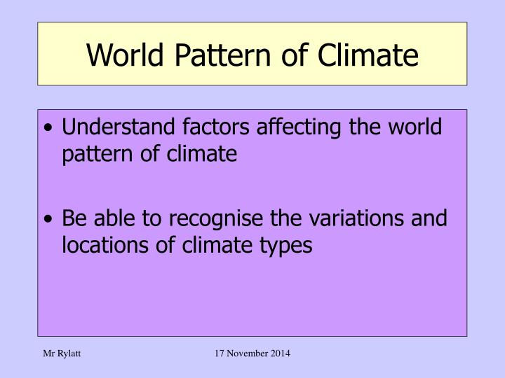 World pattern of climate1