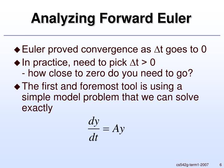 Analyzing Forward Euler