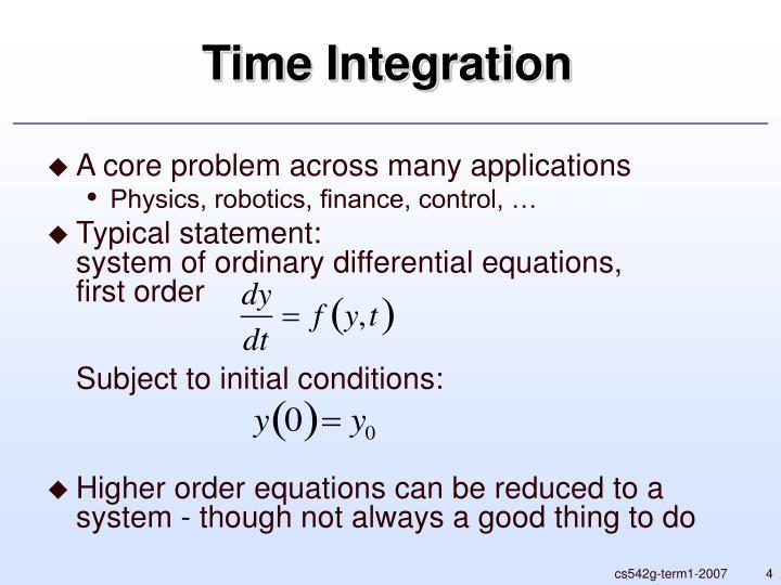 Time Integration