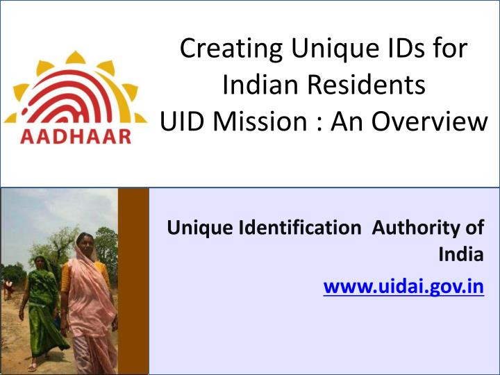 Creating Unique IDs for Indian Residents