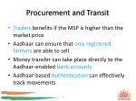 procurement and transit