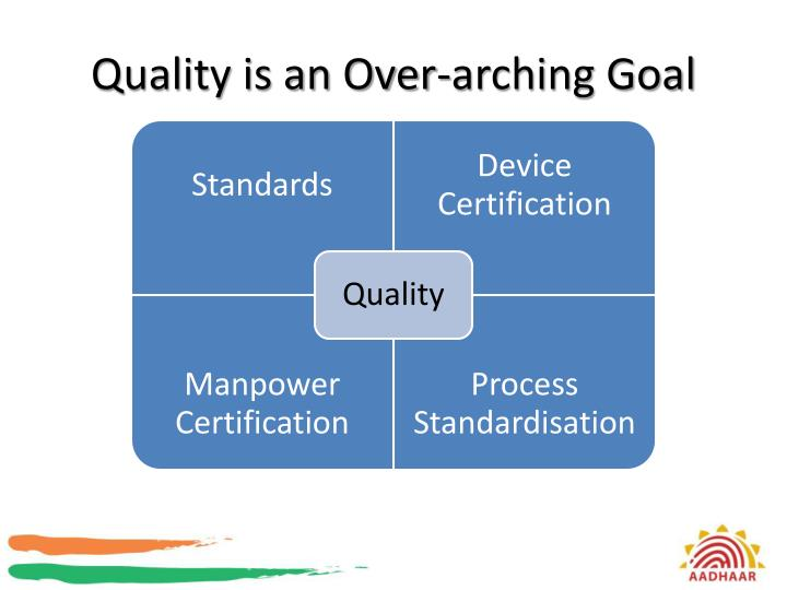 Quality is an Over-arching Goal