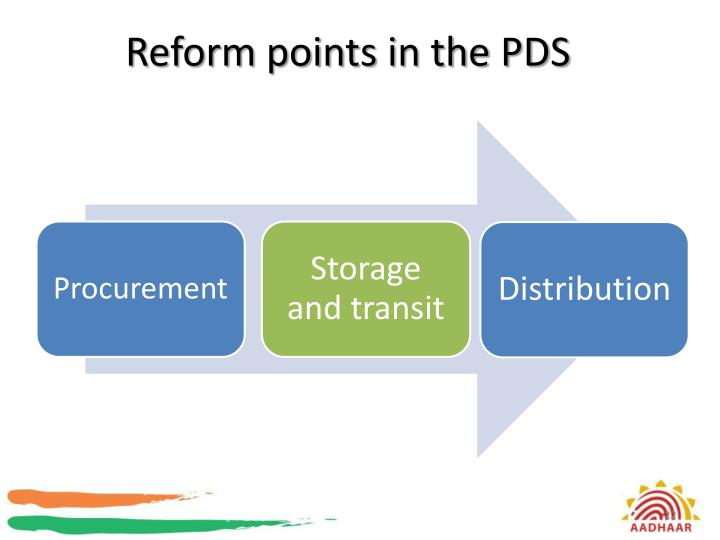 Reform points in the PDS