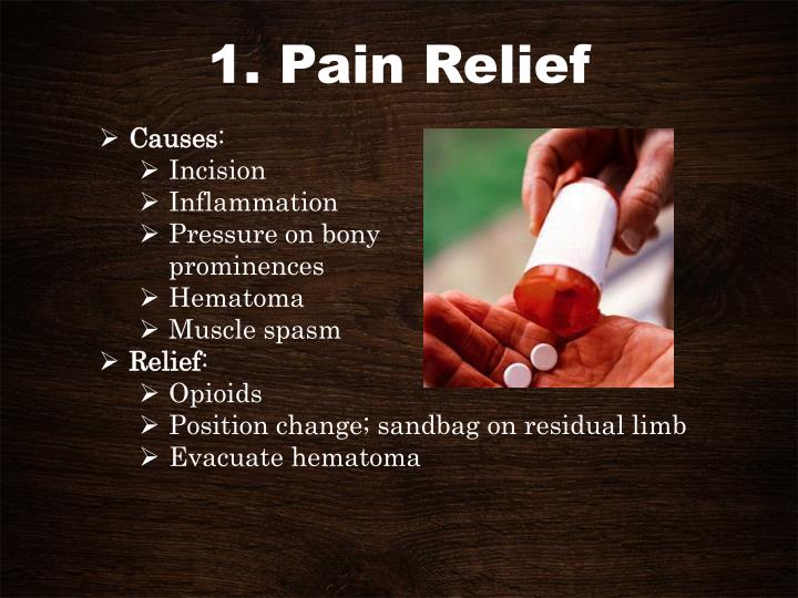 1. Pain Relief