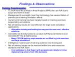 findings observations