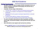 osd aoa guidance