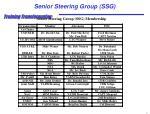 senior steering group ssg