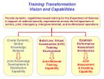 training transformation vision and capabilities