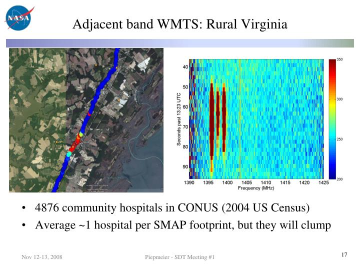 Adjacent band WMTS: Rural Virginia