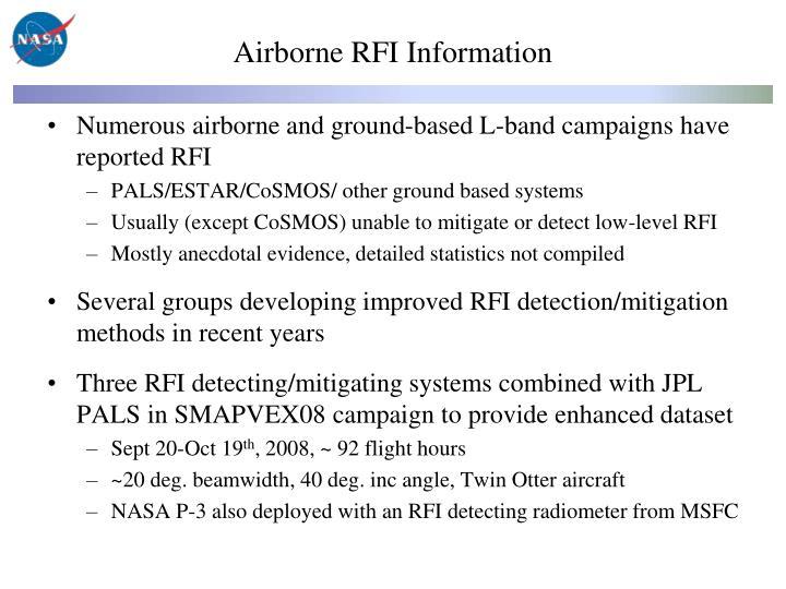 Airborne RFI Information