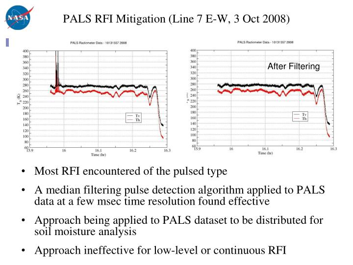 PALS RFI Mitigation (Line 7 E-W, 3 Oct 2008)