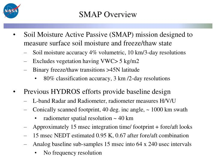 SMAP Overview