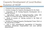 capacity development of local bodies evolution of ncdf