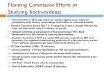 planning commission efforts at studying backwardness