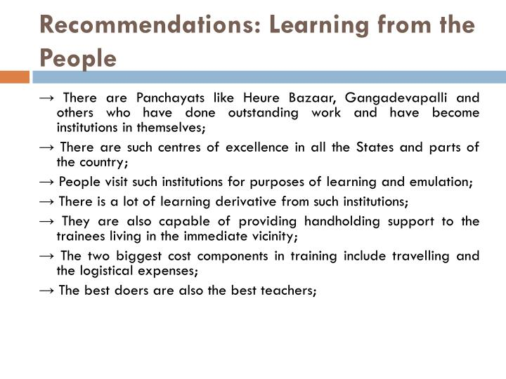 Recommendations: Learning from the People