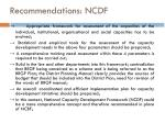 recommendations ncdf