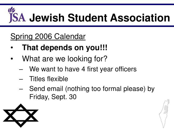 Spring 2006 Calendar