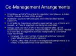 co management arrangements1
