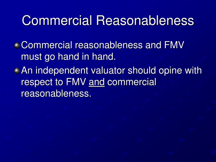 Commercial Reasonableness