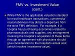 fmv vs investment value cont