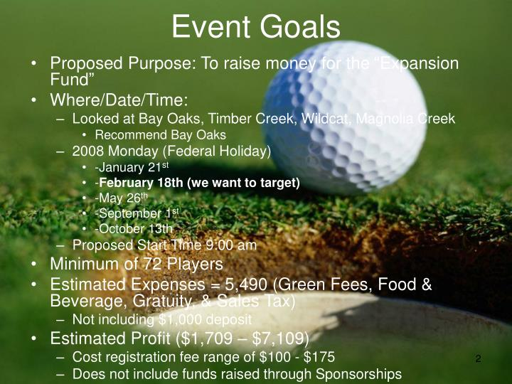 Event Goals