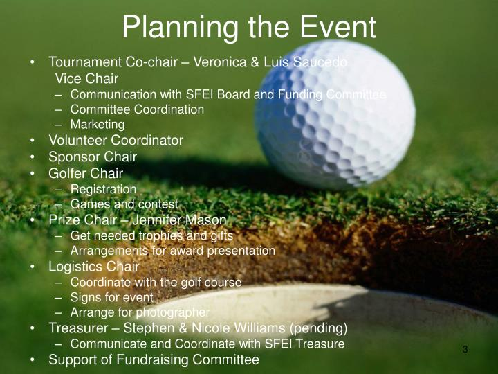 Planning the Event
