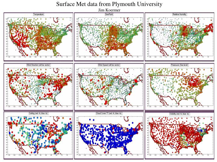Surface Met data from Plymouth University