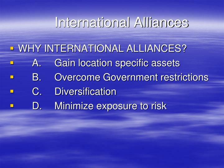 International Alliances