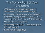 the agency point of view challenges