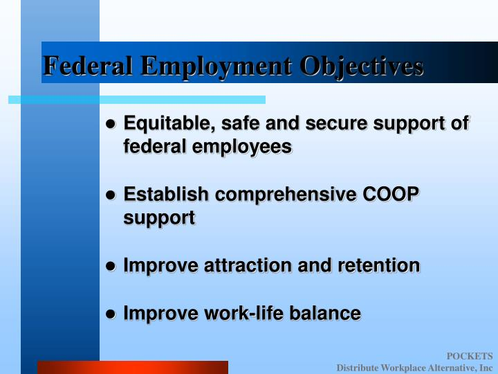 Federal Employment Objectives