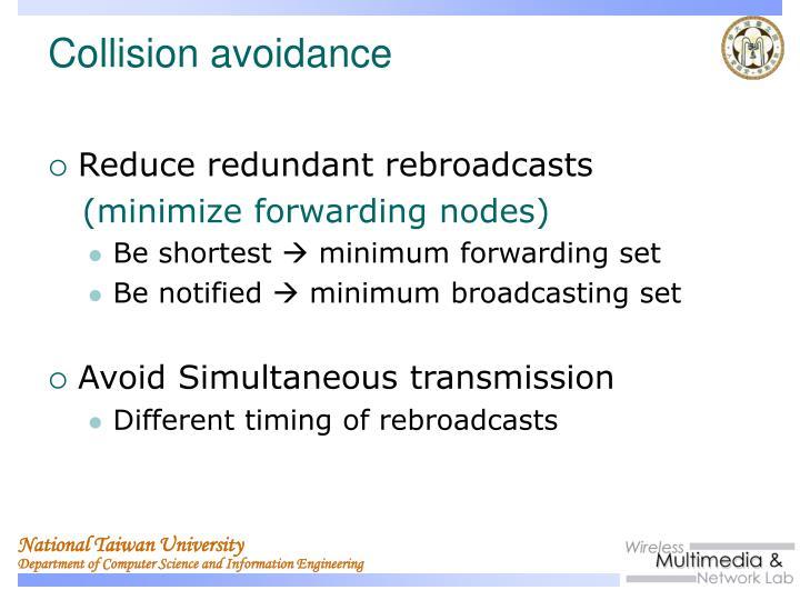 Reduce redundant rebroadcasts