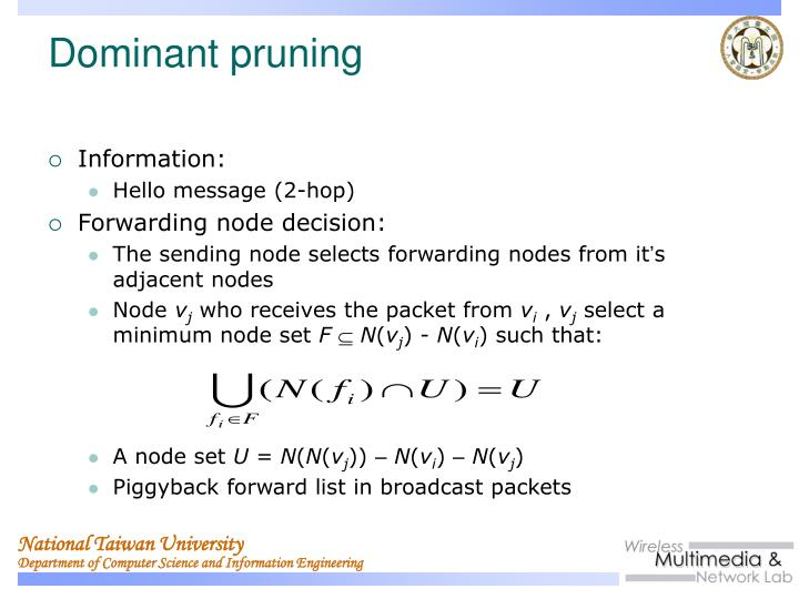 Dominant pruning