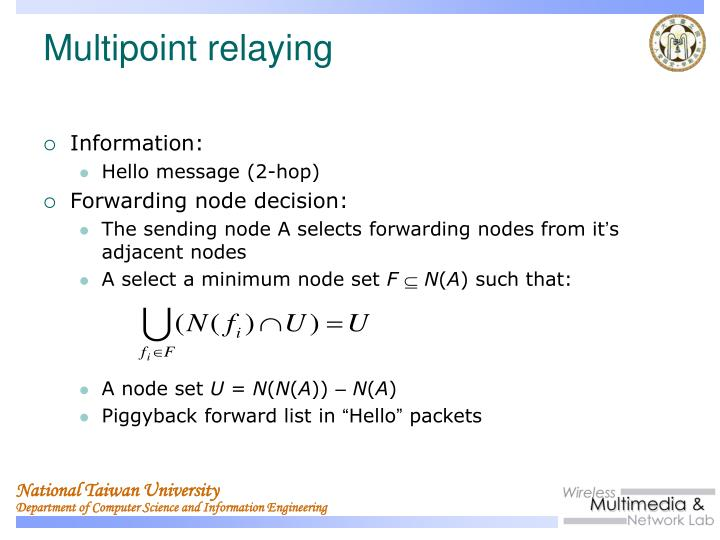 Multipoint relaying