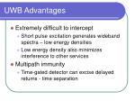 uwb advantages