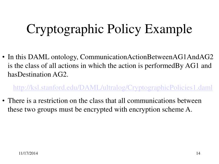 Cryptographic Policy Example