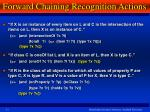 forward chaining recognition actions