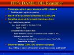 jtp s daml oil reasoner