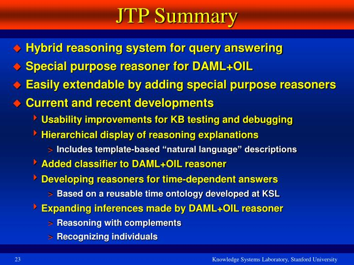 JTP Summary