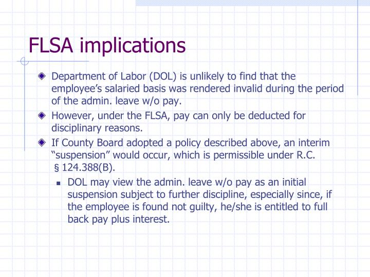 FLSA implications