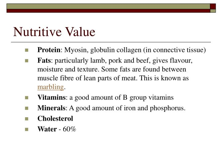 Nutritive Value
